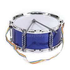 Blue Jazz Snare Drum Musical Toy with Drum  Strap for Children Kids K5V3