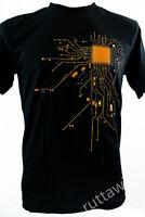 Black Short Sleeve Fashion Rocky Cotton Blend Men T-Shirt Graphic Tee CPU Heart