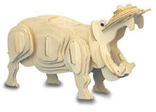 Hippo 3D Wooden Modelling Kit Model Jigsaw Puzzle