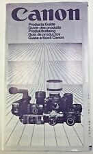 Original 1983 Canon Products Guide Multilingual