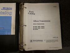 Allison MD3060 P PR MD3560 P PR MD3070PT Transmission Parts Catalog Manual