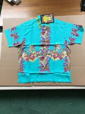 SURF  RARE MAMBO LOUD SHIRT Australian Hawaiian Turquoise Tiki House Medium