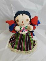 "Peruvian Cloth Doll Otomi Girl 12"" Tall"