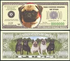 PUGS Million Note ~ Crisp  Fantasy Note ~ Adorable Wrinkly Pugs