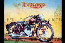 Triumph Speed Twin Poster 1939 motorcycle advertisement ca 8 x 10 print