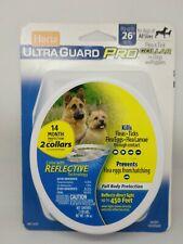 "Hartz Ultraguard Pro Flea Tick 2 Collars Dogs All Sizes to 26"" Necks 14 Months"
