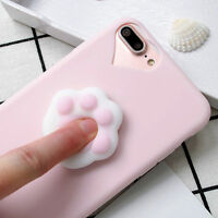 Soft Cat's Paw 3D Cartoon For iPhone 6s/7 Plus Silicone Squishy Phone Case Cover