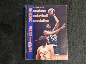 Official 1972-73 ABA The Sporting News Softcover Guide w/ Artis Gilmore Cover