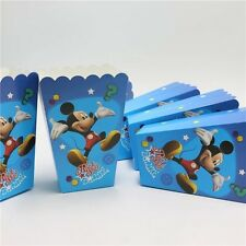 12 Pcs Set, Mickey Mouse Pop Corn Candy Boxes Kids Birthday Party Supply