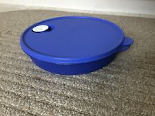Tupperware Crystal Wave Divided Platter Container Vented Blue Microwave 3284C