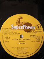 "Shabba Ranks, Dominic - Original Fresh / Favor Boy George 12"" Vinyl Single"