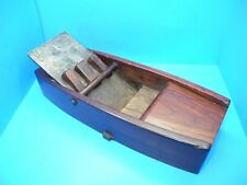 """unusual large & heavy wood apothecary plane w/ marked 3-5/8"""" iron & 3 wedges"""