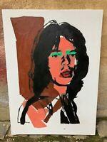 Andy Warhol - Mick Jagger - olio su tela - 50x70 cm - Falso d'autore