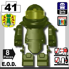 Tank Green EOD bomb suit (W282) army compatible with toy brick minifigures