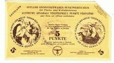 Germany Ostland Latvia - 5 Punkt 1943/44, cancelled WWII