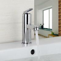 U.Chrome Brass Waterfall Bathroom Basin Faucet Single Handle Hole Sink Mixer Tap