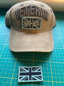 ROYAL SIGNALS VETERAN'S adjustable baseball cap with patches, 3D Veteran's sign