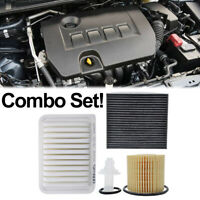 Engine Oil Cabin Air Filter For Corolla 09-2015 1.8L 2ZR-FE 2ZR-FAE Combo