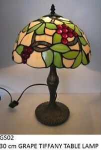 Grape Design Tiffany Stained Glass Table Lamp RM27 GS02