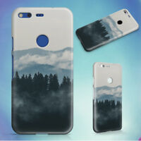 FOREST MOUNTAINS FOG CLOUDS HARD BACK CASE FOR GOOGLE PIXEL PHONE