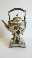 TIFFANY & CO. Silver Soldered Hot Water Kettle on Stand