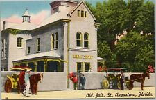 Old Jail with Horse-drawn carriages outside, St. Augustine Florida