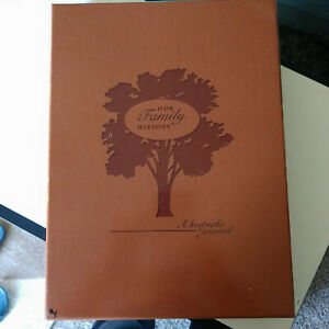 Our Family Tree Genealogy History Records Faux Leather Brown Boxed New
