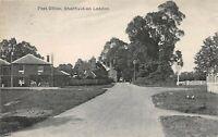 POSTCARD  HAMPSHIRE -  SNERFIELD ON  LODDON  - POST OFFICE  CIRCA 1921 - RP
