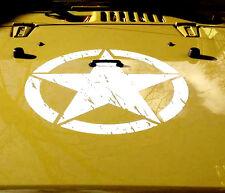 Adesivo Decalcomania Per JEEP WRANGLER RUBICON Esercito Star USMC Militare Bikini Top Plate