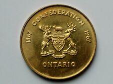 Ontario Centennial 1867-1967 Metals Mining & Miners Medal by RCM Thomas Shingles
