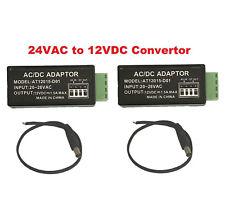 2x 24V AC To 12V DC Convertor Power Supply Adaptor and DC 2.1mm For CCTV Camera
