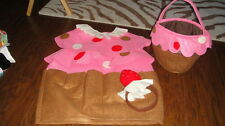POTTERY BARN KIDS CUPCAKE COSTUME AND TREAT BAG 4-6