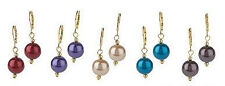 Set of 5 Glass Pearl Lever Back Earrings Retail $100+