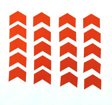 Reflective Red Mini Chevron Vinyl Stickers 1 inch wide