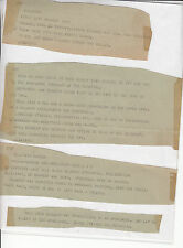 Original AP teletypes Kennedy assassination (20 pages)