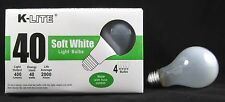 Lot of 48, 40 Watt Incandescent Light Bulbs 40w 120V, 400 Lumens Soft White