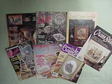 Cross Stitch Magazines For the Love of Cross Stitch Premier Issue Lot of 7 Asst