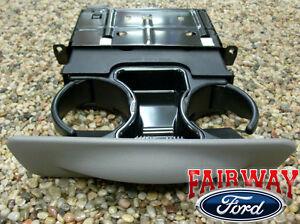 99 00 01 Super Duty F250 F350 F450 F550 OEM Ford Dash Cup Holder GRAPHITE GRAY