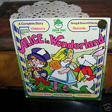 Alice in Wonderland Peter Pan Record with Colorful Sleeve 45 rpm