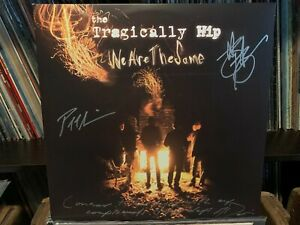 THE TRAGICALLY HIP SIGNED AUTOGRAPHED LP VINYL GORD DOWNIE W/ INSCRIPTION x3