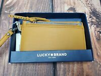 NWT Lucky Brand Wallet Saffron Clutch Wristlet Rayla Removable Card Case