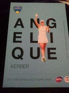 WTA WESTERN & SOUTHERN 5x7 ANGELIQUE KERBER TENNIS CARD 2017 EDITION GIVEAWAY