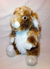 "Dandee Plush Mottled Bunny Rabbit Stuffed Animal 13"" Collectors Choice"