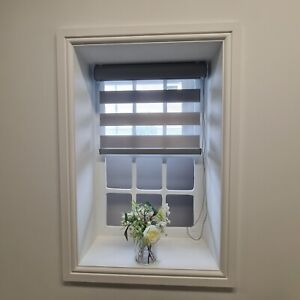 DAY & NIGHT ROLLER BLINDS- PREMIUM QUALITY FABRIC, FITTINGS, 11 SIZES, 2 COLOURS