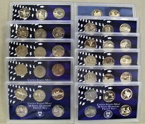 """11 1999 /</> 2009 NO COINS ELEVEN PROOF SET REPLACEMENT BOXES AND COA/'s /""""NO COINS"""