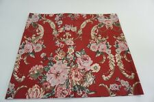 RALPH LAUREN Marseilles Floral Red Window Valance, Cotton Curtain, RL Red Floral