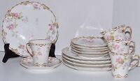 Haviland Limoges Double Gold Schleiger 87 Pattern 15pc Setting Porcelain China