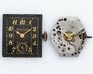 Pair of Vintage Bulova Movements for Parts/Restoration out of Estate!