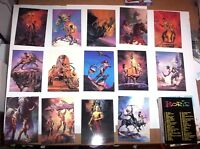1991 BORIS VALLEJO SERIES 1 Comic Images COMPLETE 90 CARD FANTASY ART SET!