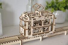 *VIDEO* 3D Puzzle Holzpuzzle STRAßENBAHN Baukasten ORIGINAL UGEARS Modell